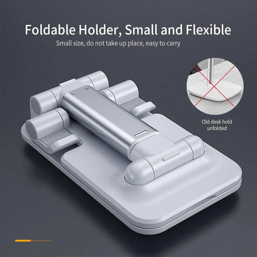 Hot Adjustable Cell Phone Holder Foldable Tablet Stand Mobile Phone Mount for Desk Case Friendly Compatible with All Mobile Phone/iPad/Kindle/Tablet Phone Dock 4