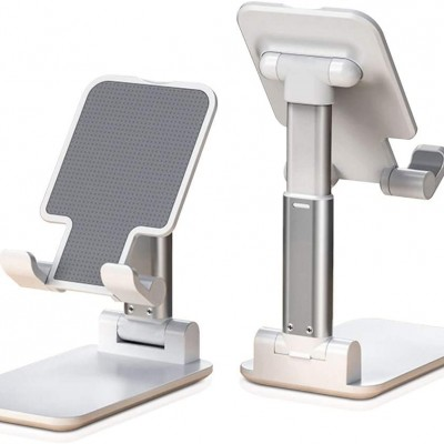 Hot selling foldable cell phone holder  adjustable cell phone stand for desk compatible with ipad ,smartphone, tablets