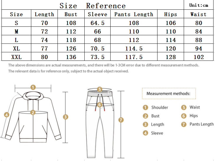 2020 men's autumn and winter new long-sleeved sports two-piece zipper cardigan fashion contrast color simple drawstring big pocket 0