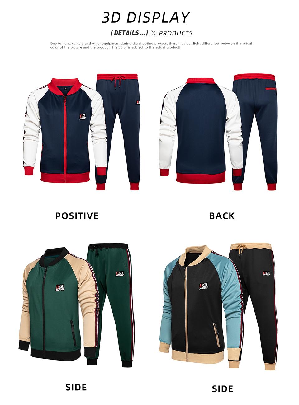 Chu_ce  2020  Men's Tracksuit Jogging Suits Casual Running Sweatsuits Set 9