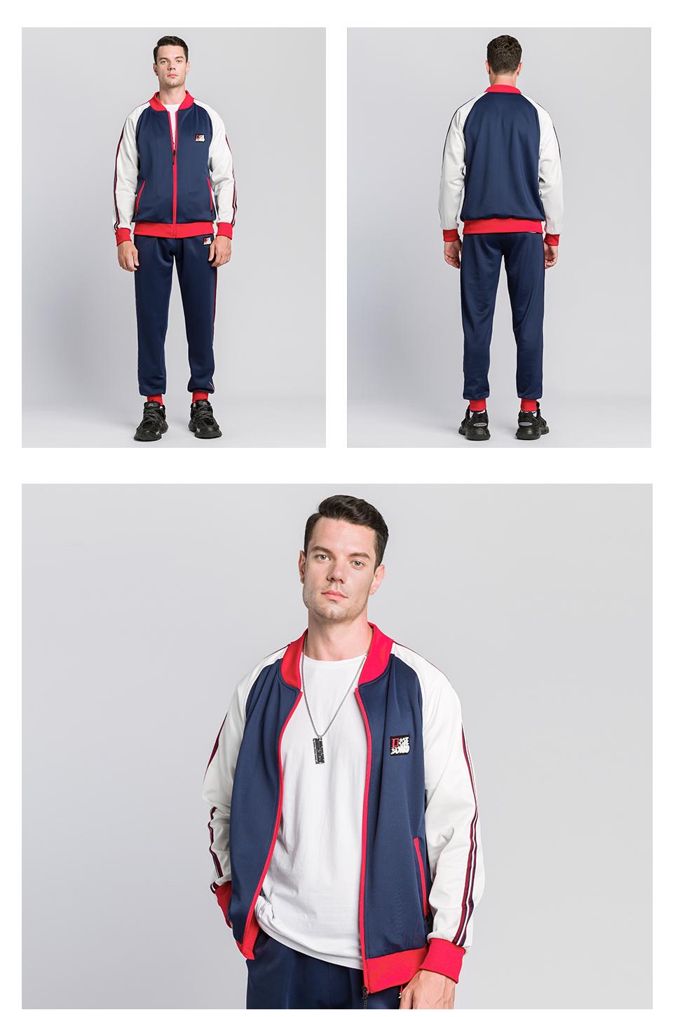 Chu_ce  2020  Men's Tracksuit Jogging Suits Casual Running Sweatsuits Set 5