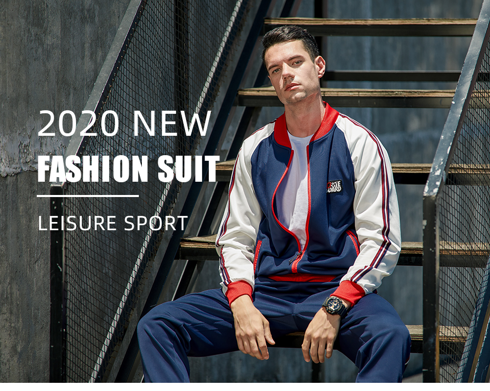 Chu_ce  2020  Men's Tracksuit Jogging Suits Casual Running Sweatsuits Set 0