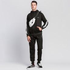 Chu_ce 2020 Men's sports running track suit suit casual full zipper jogging sportswear