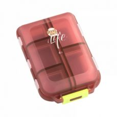Portable Weekly Pill Case, Double-Decker Pill Box For Daily Or Travel Use