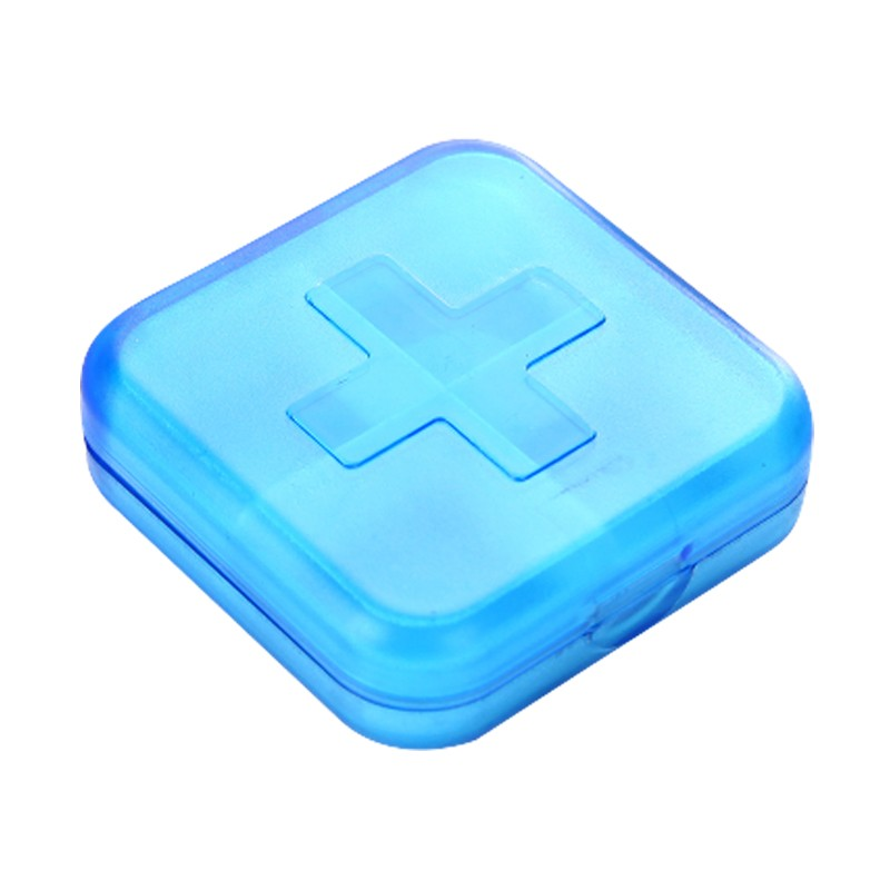 Weekly Pill Case - 4 Compartments Pill Box Reminder for Daily or Travel Use