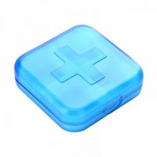 4 Compartments Daily Pill Case, Simple Pill Box Pocket Pack for A Short Travel, Business Trip And Daily Use