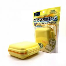 Pill Organizer-Weekly Pill Box With 6 Compartments, Waterproof Plastic Pill Organizer for Daily or Travel Use (yellow)