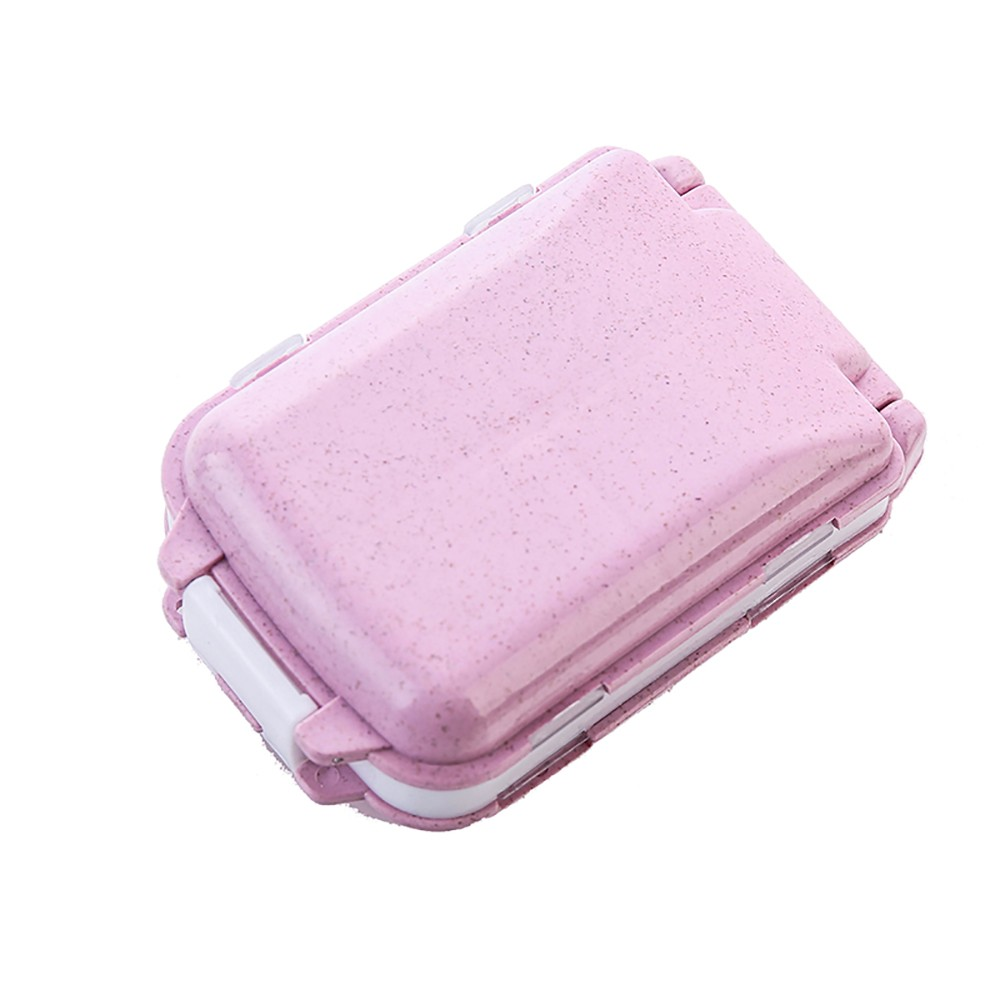 Portable Traveling Pill Case, Fashionable Pill Box with 8 Compartments