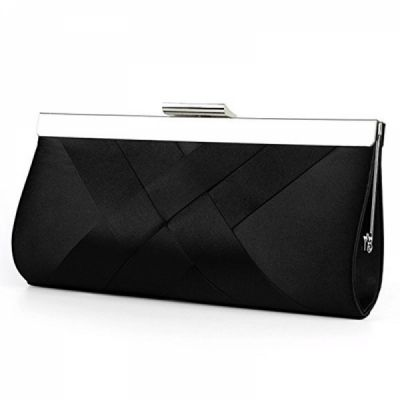 Luxury Satin Evening Bag, Wedding Handbag with Chain Strap for Women