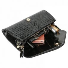 Fashion evening clutches bag, ladies genuine leather envelope purse for party