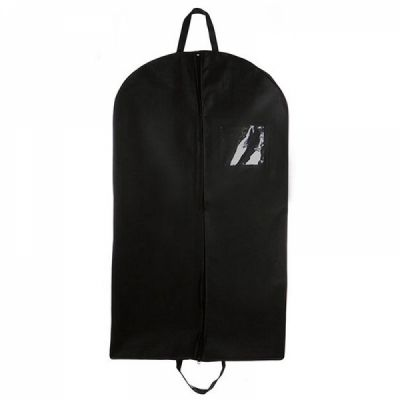 Breathable Fold Over Garment Bag with Handles and Clear Square Window, 24''x 40'' Suit Bag for Travel and Clothing Storage