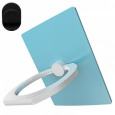 Universal Cellphone Finger Ring Holder Grip Stand and Car Mount Base - Turquoise