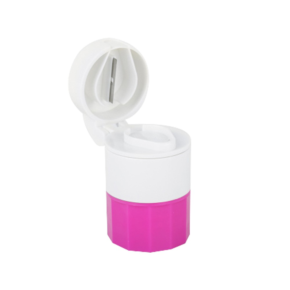3 IN 1 Multi-Function Tablet Cutter And Medication Crusher with Small Pill Box For Daily or Travel Use