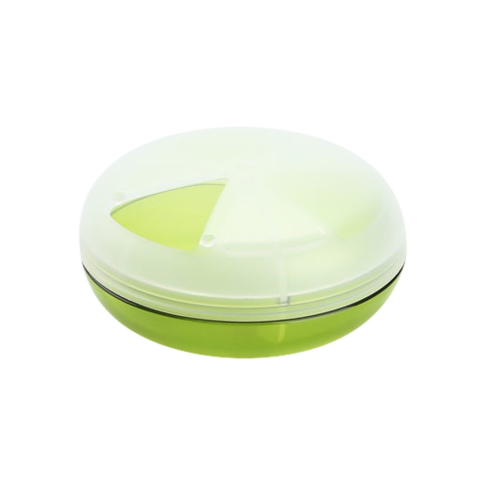 Round pill case for purse, Mini Rotating Medicine Tablet Organizer Case for Daily and Travel Use