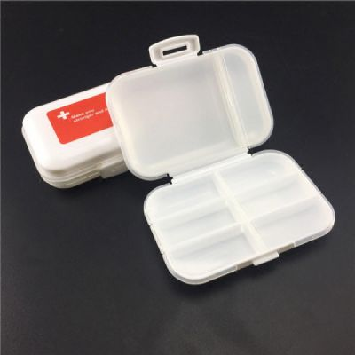 Portable Weekly Pill Organizer, 8 Compartments Plastic Pill Organizer Box for Daily or Travel Use