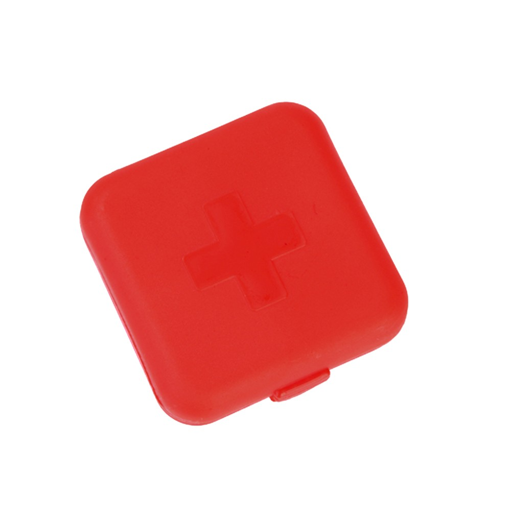 Mini Cute Portable 4 compartments Travel Pill Box, Ideal for Medication, Vitamin, Supplement