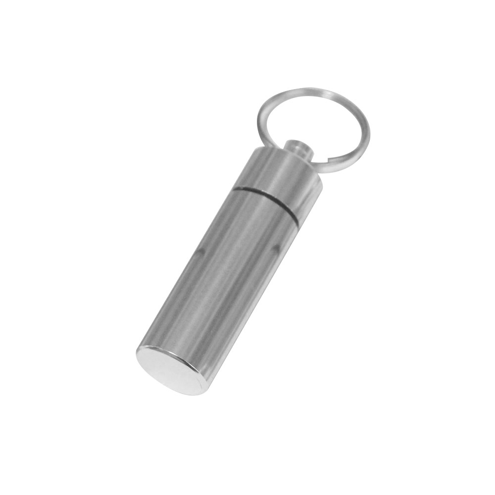 Waterproof Outdoor Camping/Traveling Portable Aluminum Pill Box with Keychain