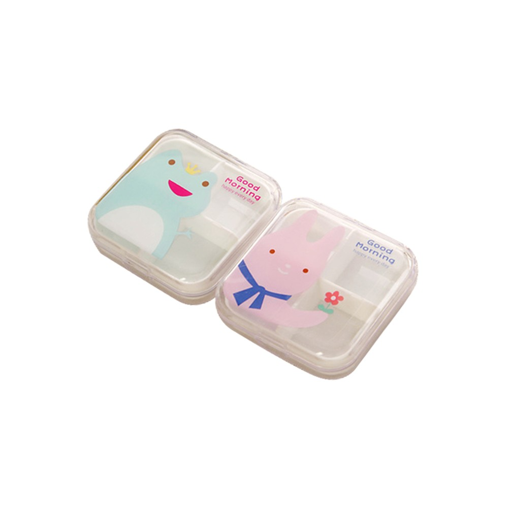 Portable Airtight Pill Organizer for Pocket or Purse, Transparent and Two Size Available