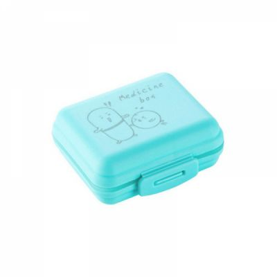 Outdoor Double Layer Pill Box With 7 Slots, Waterproof Lovely Pill Organizer For travel Or Weekly Use