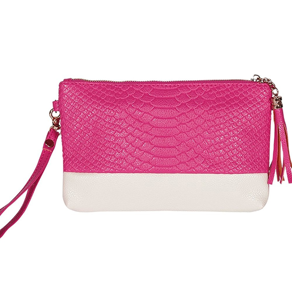 Fashion Leather wallet With Removable Wristlet Strap and Shoulder Strap, Suit for party, dating,shopping