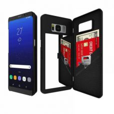 Galaxy S8 Wallet Case With Mirror, Samsung Galaxy S8 Protection Case With Credit Card Slot For Women