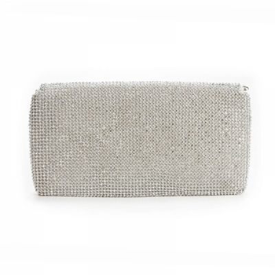 Shining Ladies Evening Bag, Clutch Purse with Rhinestones for Wedding or Party
