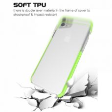 Shockproof IPhone 7 Clear Case, Soft TPU Cover Case with Lanyard Hole for iPhone 6 /6S & iPhone 7 4.7 Inch - Grass Green