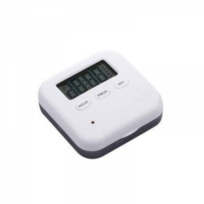 Daily Pill Organizer with Digital Alarm Clock Reminder, Mini Portable Pill Box with 5 Alarm Reminders for Pills/ Vitamin/ Supplements