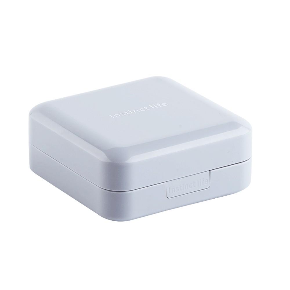 7-Day Travel Pill Organizer, Mini 8 Grids Portable Double-layer Medical Pill Box