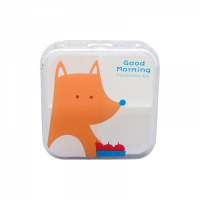 Lovely Cartoon Portable Pill Box, Transparent 4 Solt Pill Box For Daily or Travel Use