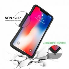 Anti-slip/Anti-Drop iPhone X Case, Shockproof Heavy Duty Protective Cover Case with Carbon Fiber Twill Matte Finish Pattern for iPhone X/10 Case (Black)