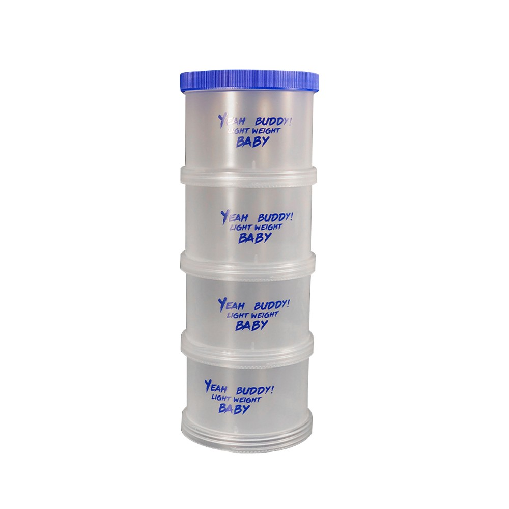 Stackable Protein Powder Container with 4  compartments For Daily or Travel Use
