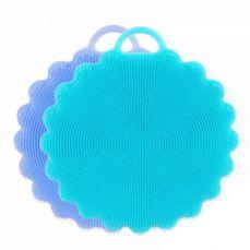 Antibacterial Soft Silicone Dishwashing Brush, 2 Pack Multipurpose Dish Towel Scrubber for Wash Pot Pan Dish Bowl, Fruit, Vegetable