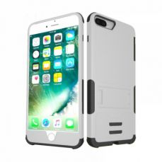 Shockproof iPhone 6 Plus/ 6S Plus / 7 Plus Case, Soft TPU Heavy Duty Protective Cover Case with Kickstand