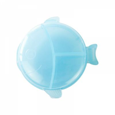 Cute Fish Shape Pill Case, Mini 6 Slots Portable Weekly Pill Box for Medication, Vitamin, Supplement