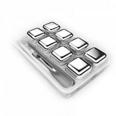 Set of 8 Whiskey Stones, Reusable Stainless Steel Ice Cubes for Whisky/ Vodka/ Wine/ Beer and All Drinks