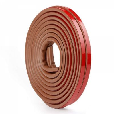 Weather Stripping for Doors and Windows, Self-Adhesive Silicone Rubber Strip Tape