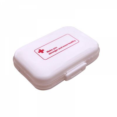 Weekly 8-Slot Pills/Vitamins Box, Portable Travel Pill Case for Purse or Pocket