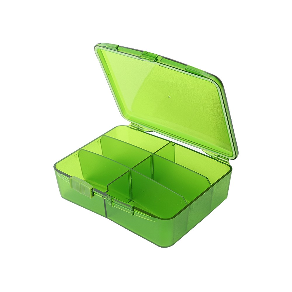 Weekly Travel Pill Organizer, Airtight 6 Compartments Pill Case for Pills, Vitamin, Fish Oil