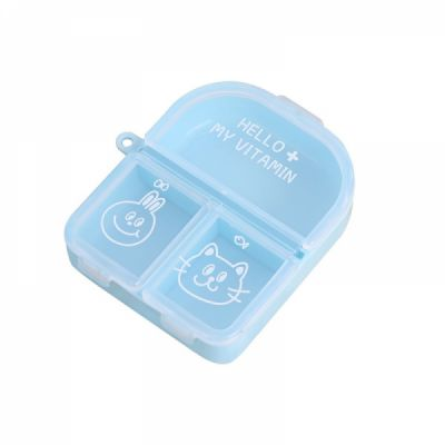 Cute Travel Pill Box for Women, Mini Portable 3 Slots Pill Organizer for Pocket Or Purse