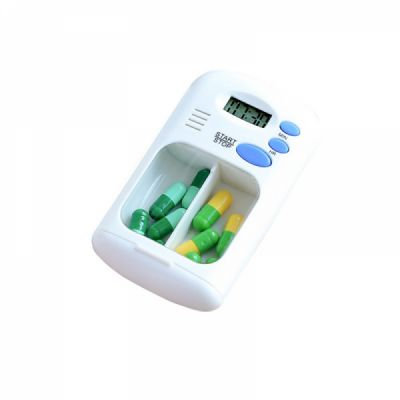 Portable Daily Pill Case with Alarm Reminder, Elderly Pills Tablet Holder Organizer for Medicine Vitamins Supplements