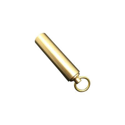 Waterproof Pill Fob With Key Ring, Solid Brass Daily Pill Organizer for Men Women