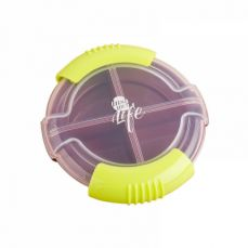 Round Portable Medicine Pill Case for Men or Women, Daily Pill Case for Medication, Vitamins & Supplement