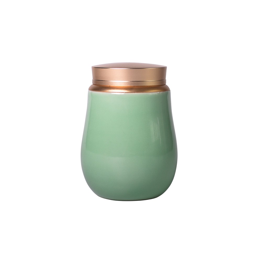 Beautiful Ceramic Alloy Storage Container Jar, Suitable for Green Tea and Pills
