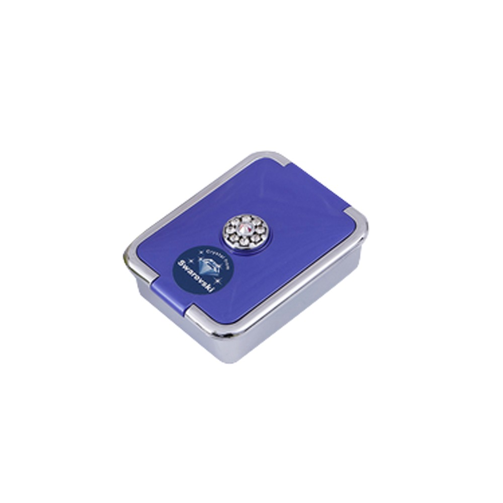 Elegant Pill Case with 3 Compartments, Fashionable Pill Organizer with Swarovski Crystals, Ideal Gifts For Women
