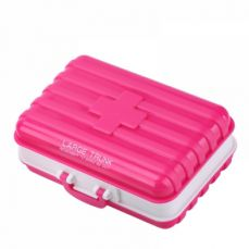 Mini suitcase shaped pill box with  6 compartments, multi function weekly travel pill case  for pocket and purse