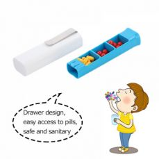 Portable Vitamin Medicine Tube Container with 3 Compartments, Clip Design Pill Case for Daily or Travel Use