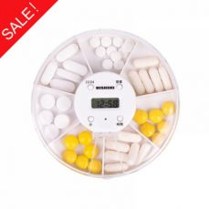 Electronic 7 Day Pill Box with 5 Alarm Reminders, Automatic Weekly Pill Dispenser with Removable LCD Alarm Timer