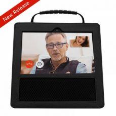 Protective Premium Leather Case for Amazon Echo Show with Non-slip Handle (Black)