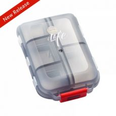 Portable Weekly Pill Case Double-Decker Pill Box for Daily or Travel Use